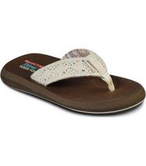 skechers women's cali asana flip flop thong sandals from finish line