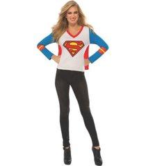 buyseasons women's supergirl sport t-shirt adult costume