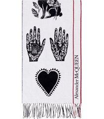 alexander mcqueen wool and cashemre scarf