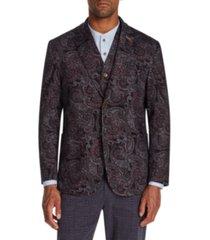 tallia men's slim-fit stretch paisley knit blazer