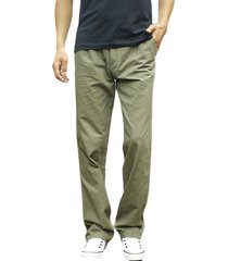 mens spring fall cotton carico pantaloni regular fit in cotone tinta unita casual business