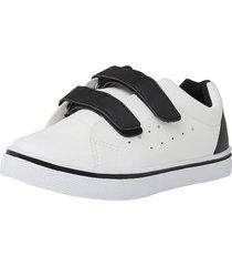 zapatilla basica velcro teen blanca corona