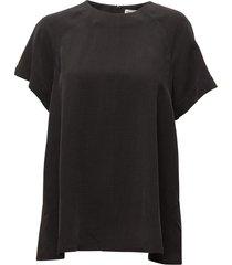 trapeze tunic blouses short-sleeved zwart filippa k