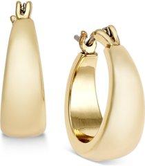 charter club gold-tone huggie hoop earrings