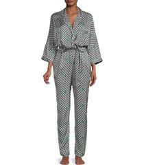 maje women's printed pajama jumpsuit - size 34 (xs)