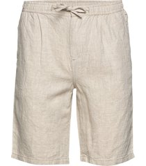 birch loose linen shorts - vegan bermudashorts shorts beige knowledge cotton apparel
