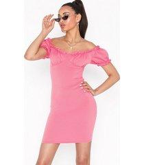 nly one bardot frill dress fodralklänningar