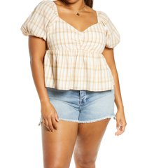 plus size women's bp. babydoll top, size 2x - beige