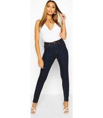 high waist skinny jeans, dark blue