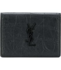 saint laurent monogram business card case - black