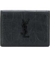 saint laurent monogram business card case - black