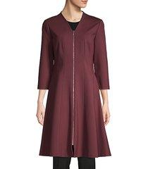 rosalie zip-up a-line dress