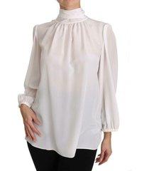 turtle neck zijden blouse