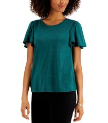 style & co angelina flutter-sleeve top, created for macy's