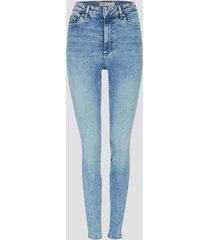 high waist curve skinny jeans - ljusblå