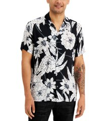 inc men's short-sleeve floral chain shirt, created for macy's