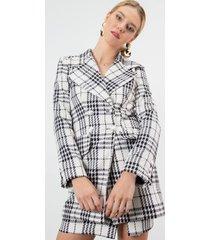 abrigo london casual urbano blanco kimonada