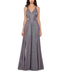 xscape metallic glitter gown