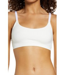 women's nordstrom all day comfort bralette, size small - white