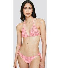 bikinitrosor med knytning i sidan - ljusrosa