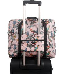maleta rs estampado pajaros