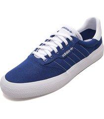 tenis lifestyle azul royal-blanco adidas originals 3mc