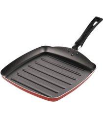frigideira grill garlic alumãnio vermelho de 24cm - brinox - incolor - dafiti
