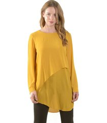 blusa larga italiana amarillo bous