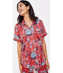 loft floral silky pajama top