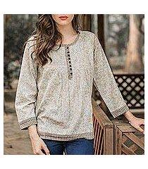cotton blouse, 'rajasthan grace' (india)
