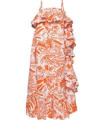 abito/dress knälång klänning orange msgm