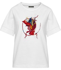 t-shirt z kolorowym żukiem