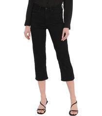 women's nydj thighshaper crop jeans, size 00 - black