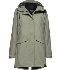 rain jkt from the sea padded w parka lange jas jas groen tretorn