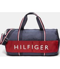 tommy hilfiger men's signature duffle bag navy/red -