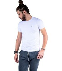 camiseta mister fish básica com elastano masculina - masculino