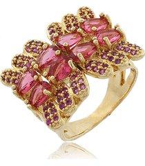 anel viva jolie laço rubi