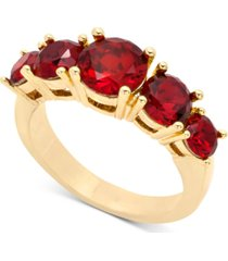 charter club gold-tone five stone statement ring, created for macy's