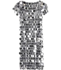 paco rabanne sequins mini dress