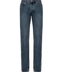 a.p.c. jeans cinque tasche in denim con lavaggio medio