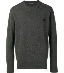 acne studios suéter nalon face - cinza