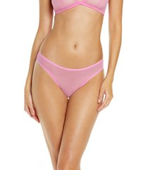 luelle elle classic mesh thong, size x-small in flamingo at nordstrom