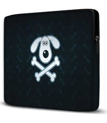 capa para notebook dog skull 15 polegadas