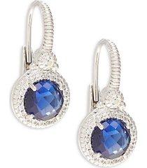 la petite sterling silver & white topaz drop earrings
