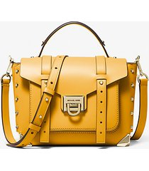 mk borsa a mano manhattan media in pelle - girasole (giallo) - michael kors