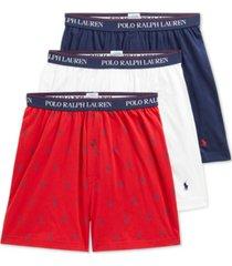 polo ralph lauren men's 3-pack knit boxers