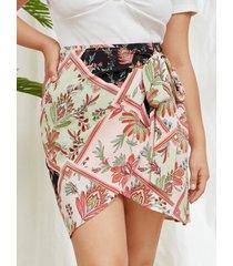 falda con diseño de lazo tribal de talla grande yoins