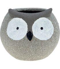 cachepot cerâmica huge eyelashes owl cin