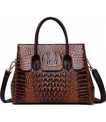 coccodrillo retro donna modello cuoio incrociato in pelle pu borsa