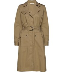trudy trench coat rock beige tiger of sweden jeans